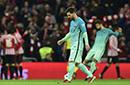 国王杯-梅西任意球破门内少造两红 巴萨1-2毕巴