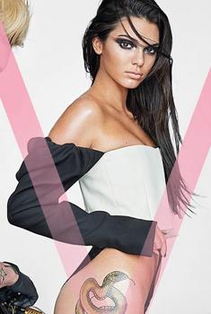 众超模集体纹身登V杂志