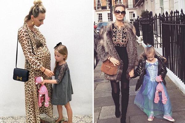 英国时尚辣妈与女儿穿潮流母子装走红网络