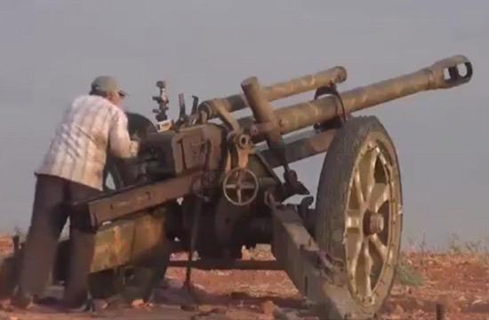 叙利亚战场惊现二战德军大炮