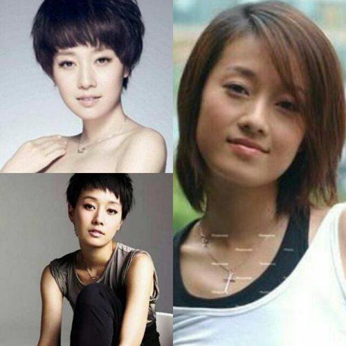 发型的,娱乐圈中许多女明星长发时没有特点,泯然众人矣~可是剪啦短发