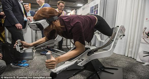 娱乐与健身两不误!虚拟现实健身器材现身CES