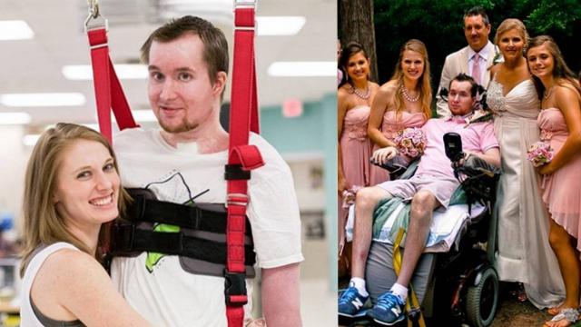 特殊的幸福!瘫痪男子与妻子共舞成网红
