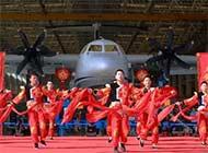 中航通飞新春联欢背景是大飞机