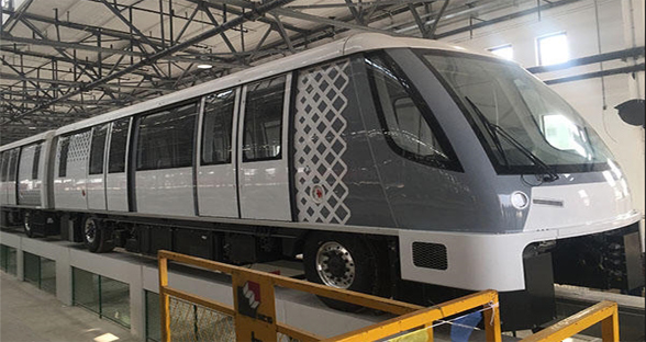 世界最先进无人地铁抵达上海 竟然装了汽车轮