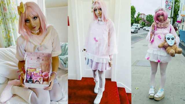 英国女子将自己装扮成洋娃娃重拾自信