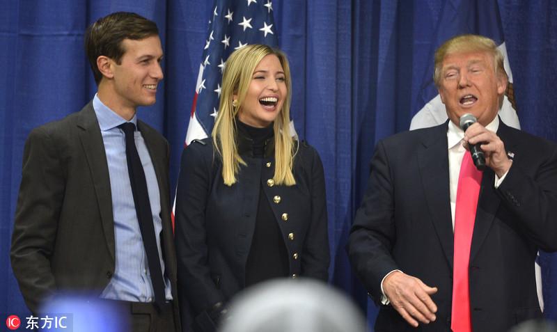 库什纳 女婿/当地时间2017年1月9日,美国总统当选人特朗普过渡团队成员和其...