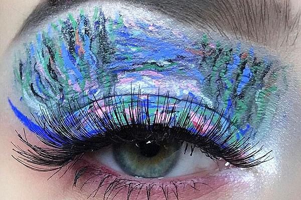 天才!英少女创作微型艺术眼妆重现名家画作