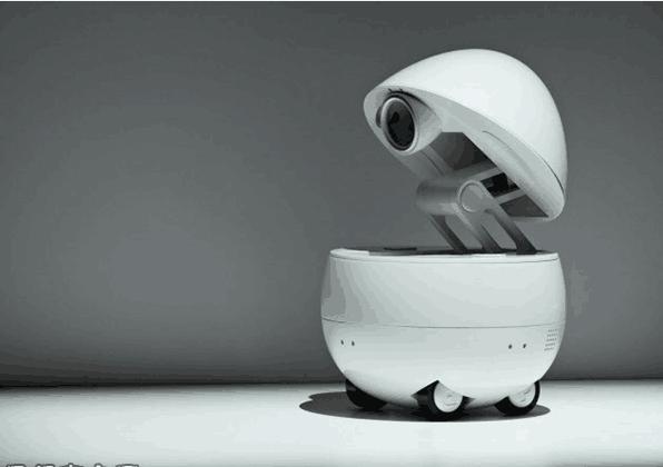 """松下开发出可对话的蛋形机器人 用""""童音""""交流"""