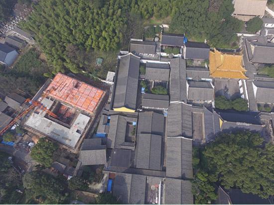 宁波一文物保护单位现违建 监察机构出动无人机取证