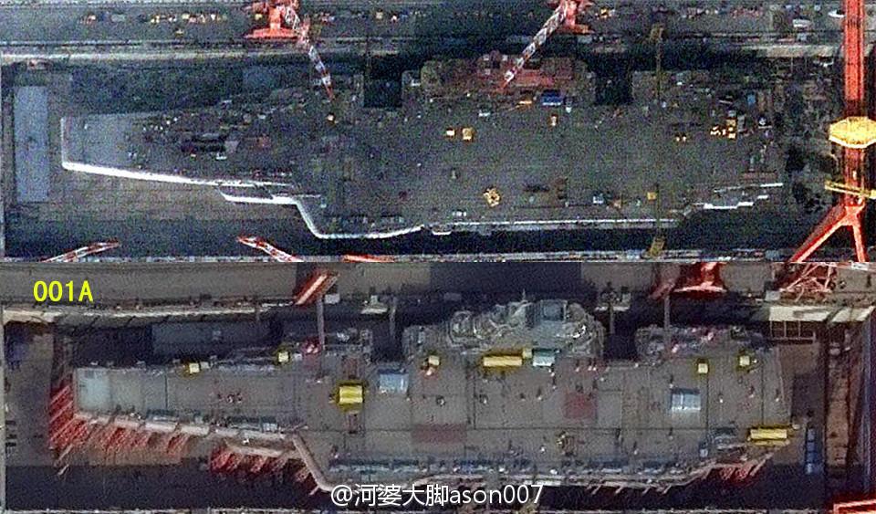简氏:中国正在为国产航母建码头 比邻辽宁舰