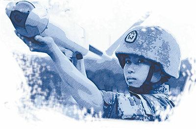 女兵改进无人机降落伞叠伞方法 飞出性能极限