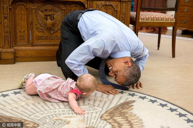 原来你是这样的奥巴马!御用摄影师揭秘总统另一面
