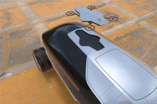 未来汽车长什么样?无人驾驶看路就靠无人机