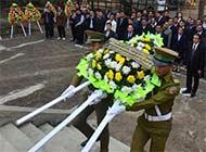 老挝动工修缮当地中国烈士陵园