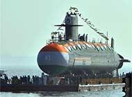 印度第二艘鲉鱼级常规潜艇下水