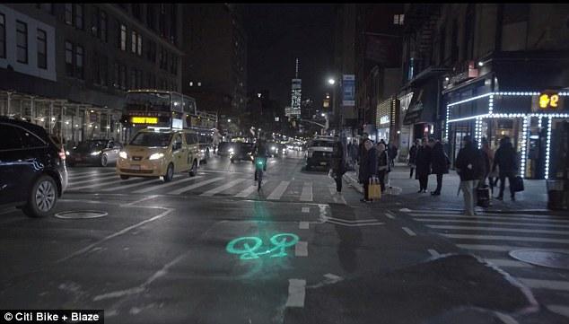 纽约市自行车将配备激光器 方便夜晚骑行识别