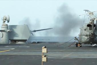 装有76毫米舰炮的航母就是猛