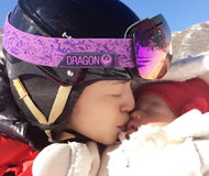 冻土豆和冰茉莉!姚晨带俩月大女儿滑雪(图)