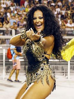 巴西桑巴舞学校排练 为狂欢节做准备