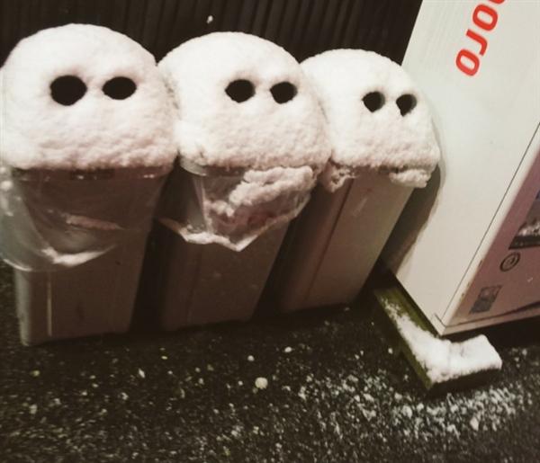 网友花式晒晒雪景