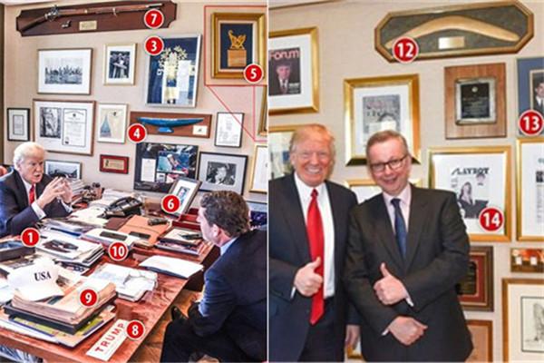 特朗普办公室陈设曝光:15个物件 其中一个和中国有关