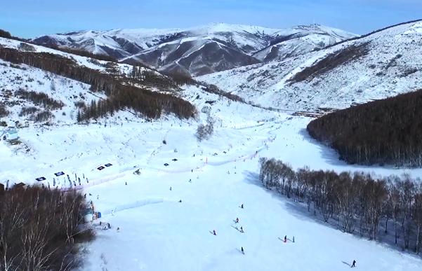 上帝视角俯瞰多乐美地滑雪场