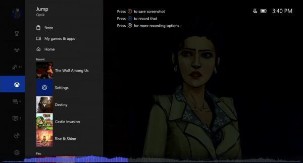 XB1新界面曝光 手柄Xbox按钮可激活新版Guide
