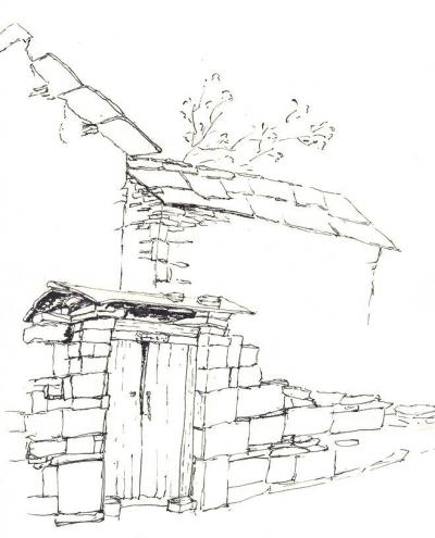 祠堂平面图手绘