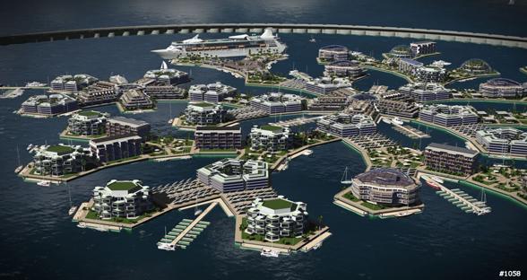 世界上首座浮动城市将出现 或与海平面上升有关