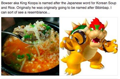 《马里奥》大反派库巴日文名竟源于韩国泡饭