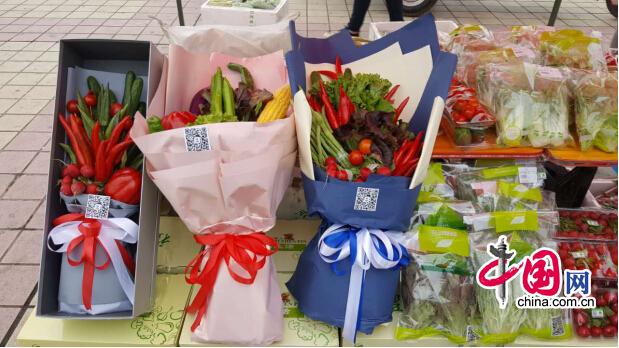 陕西安康市新型职业农民协会举办优质农产品进社区活动