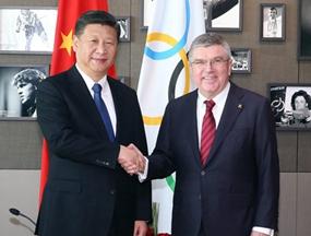 习近平会见国际奥委会主席巴赫