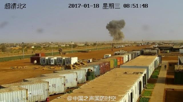 马里MOC营区受袭 中国工兵营区监控拍下爆炸瞬间