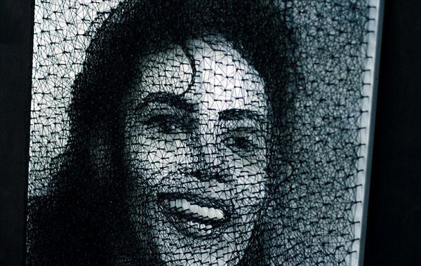 乌克兰艺术家仅用钉子细线创作MJ肖像令人惊叹