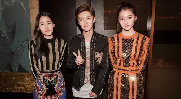 Luhan in the middle and Guan Xiaotong on the right (huanqiu.com)