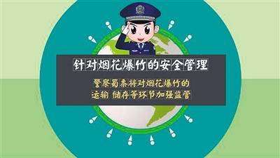 卡通警察告诉你:绕城以内不能放鞭炮