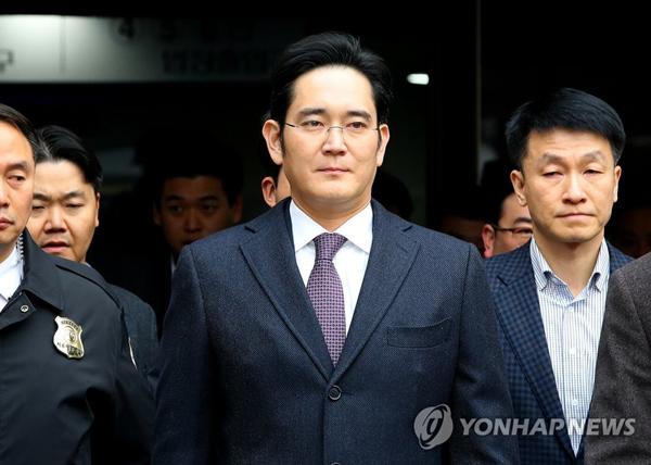 韩国三星:对法院未准批捕副会长李在镕表示欢迎(图)