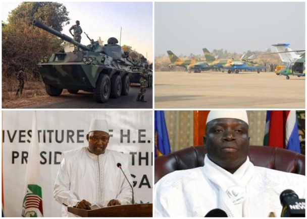 冈比亚败选总统贾梅拒下台 西非部队发动攻击