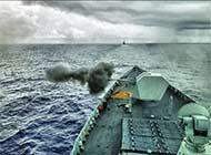 三艘052D实战演习场面壮观