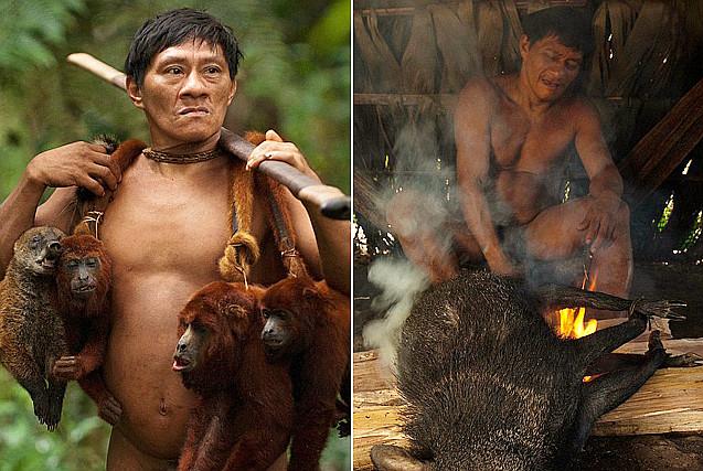 亚马逊原始部落以猎猴为生多为扁平足