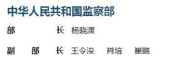 崔鹏出任监察部副部长 曾任中央纪委副秘书长