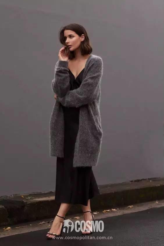 下周穿什么 高圆圆的灰大衣,好穿好暖好喜欢
