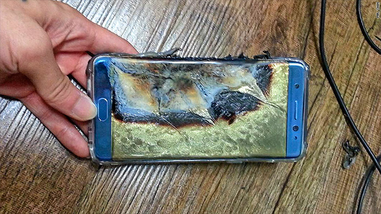 三星向全球公开Note7燃损原因:就是电池问题
