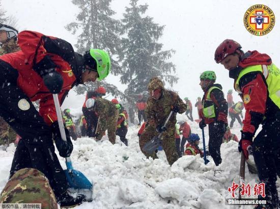 意大利酒店遇雪崩11人生还 失踪人数增至24人
