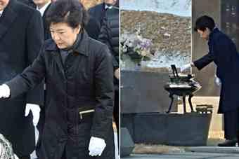 朴槿惠被停职后首次外出 只身扫墓