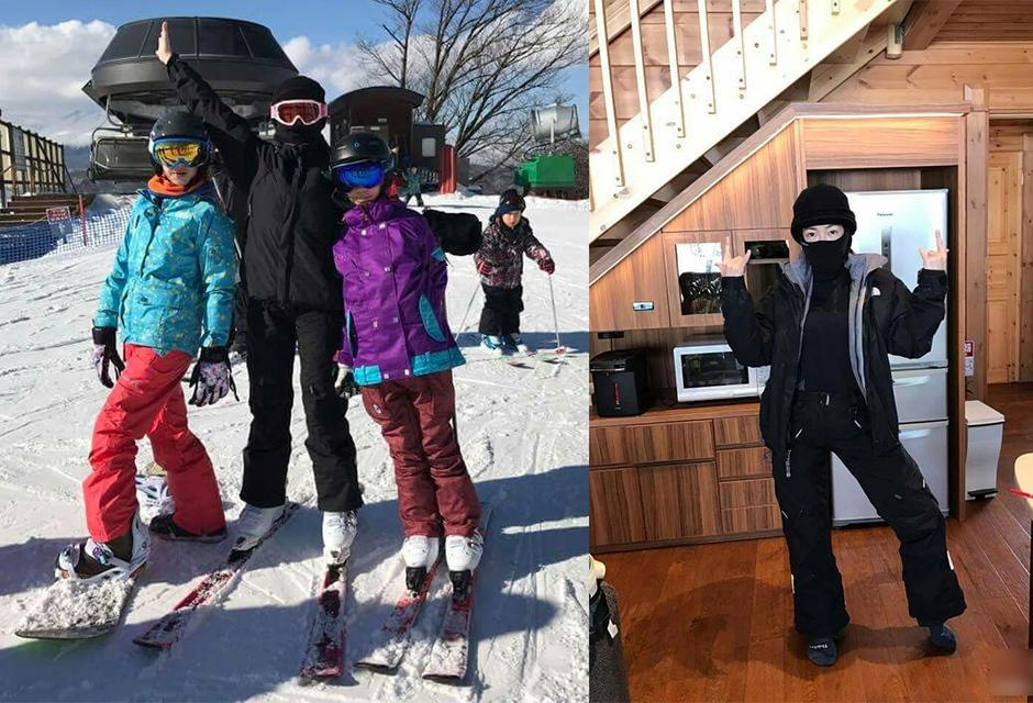 """小S带女儿日本滑雪 自称""""滑雪中毒者"""""""