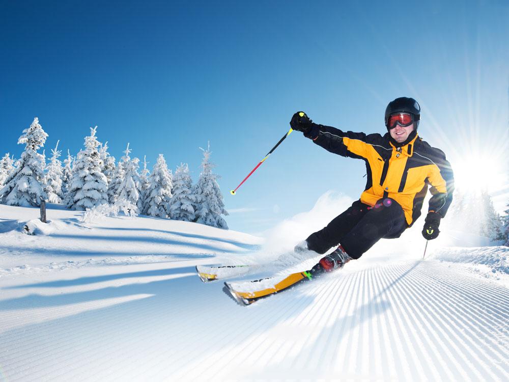 姿势不正确 滑雪很受伤