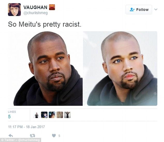 """国外网友指责美图秀秀""""种族歧视"""" 称被P成黄皮肤"""