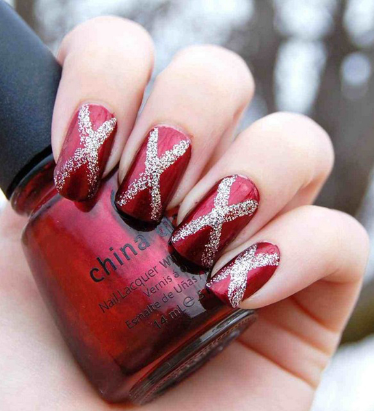 Nails designs black and pink